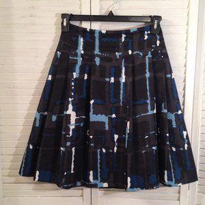 Express Design Studio 2 Black Blue Career Skirt
